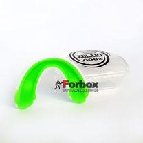Капа односторонняя двухкомпонентная Zelart взрослая в коробочке (BO-0062, бело-зеленый)