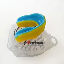 Капа одностороння двухкомпонентна Zelart підліткова в коробочці (BO-0069-L, жовто-синій)