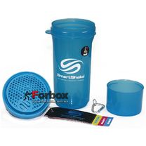 Шейкер 2х камерный для спортивного питания Smart Shaker Slim 400+100 ml (FI-5054, синий)