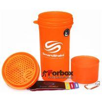Шейкер 2х камерный для спортивного питания Smart Shaker Slim 400+100 ml (FI-5054, оранжевый)