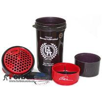 Шейкер для спортивного питания 3х камерный Smart Shaker Sign Phil 800ml (6020030, черно-красный)