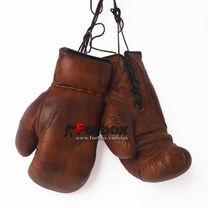 Сувенирные боксерские перчатки VINTAGE (F-0243, коричневые)