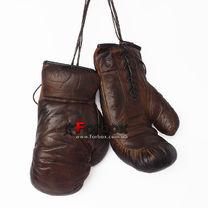 Сувенирные боксерские перчатки VINTAGE (F-0312, темно-коричневые)