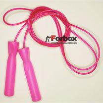 Скакалка со стальным тросом Zelart скоростная (FI-4865, розовая)