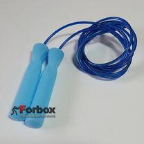 Скакалка со стальным тросом Zelart скоростная (FI-4865, синий)