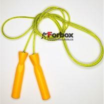 Скакалка зі стальним тросом Zelart швидкісна (FI-4865, помаранчева)
