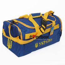 Сумка бочонок для спортзала с национальной украинской символикой (GA-3, сине-желтая)