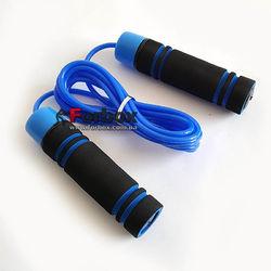 Скакалка скоростная Zelart с подшипниками PVC (FI-8008, черно-синяя)