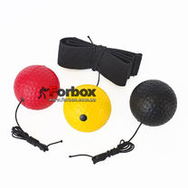 Тренажер Fight Ball для бокса с тремя мячиками (BO-1659-BKRY)