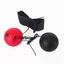 Тренажер Fight Ball для бокса с двумя мячиками (BO-1660-RBK)