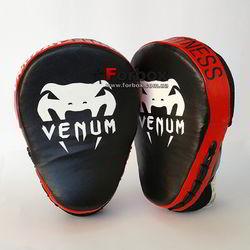 Лапы боксерские изогнутые VENUM CELLULAR 2.0 из натуральной кожи (0439, черно-красные)
