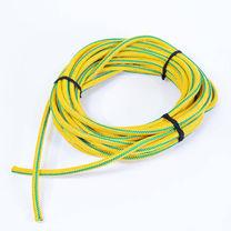 Жгут спортивний гумовий в тканинній оплітці 1 метр (rez.yelow12, Жовтий)