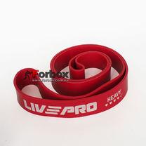 Резинка для подтягиваний LivePro Super Band LP-8410 Heavy 2080*45*4.5 мм (101577, красный)