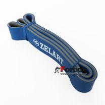 Резинка для подтягиваний двухслойная DUAL POWER BAND 2080*45*4,5 мм (FI-0911-7-BL, синий)