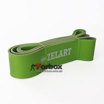 Резинка для подтягиваний двухслойная DUAL POWER BAND 2080*64*4,5 мм (FI-0911-8-GN, зеленый)
