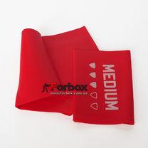 Лента эластичная для фитнеса и йоги LivePro Resistance Band Medium 2000*150*0.5 мм (LP8413-M, красный)