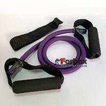 Еспандер трубчастий з ручками FI-2659-V 50LB (d-12x6мм, l-120см, фіолетовий)