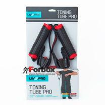 Эспандер трубчатый с ручками LivePro Toning Tube PRO (LP8405-M, черный)