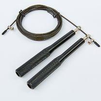 Скакалка скоростная CIMA Кроссфит на подшипниках с алюминиевыми ручками (CM-J601, черный)
