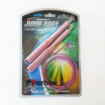 Скакалка скоростная CIMA Кроссфит на подшипниках с алюминиевыми ручками (CM-J601, красный)