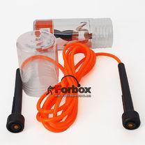 Скакалка в тубусе LiveUp PVC Jump Rope LS3115-o (000135, оранжевый)