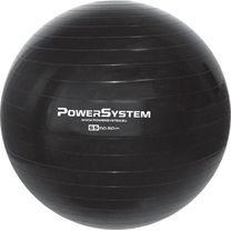 Мяч для фитнеса (фитбол) гладкий 55см Power System (PS-4011-55, черный)
