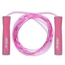 Скакалка скоростная Jello с подшипниками PU жгутом (FI-1798, розовый)