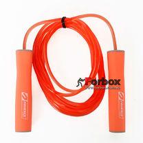 Скакалка скоростная с подшипниками PU жгутом с силиконовыми ручками (FI-1947, оранжевый)