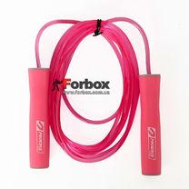 Скакалка скоростная с подшипниками PU жгутом с силиконовыми ручками (FI-1947, розовый)