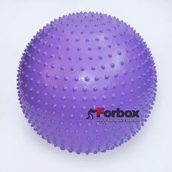 Мяч для фитнеса (фитбол) массажный 55см Zelart (FI-1986-55, фиолетовый)