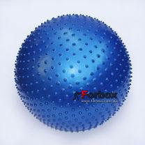 Мяч для фитнеса (фитбол) массажный 55см Zelart (FI-1986-55, синий)