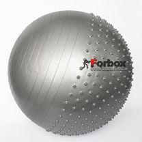 Мяч для фитнеса (фитбол) полумассажный 2в1 75см Zelart (FI-4437-75, серый)