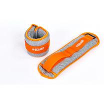 Утяжелители-манжеты водонепроницаемые 2 по 1 кг (FI-7210-2, серо-оранжевый)