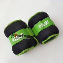 Универсальный утяжелитель для рук и ног Zelart 2*2кг (FI-2502-4, зеленый)