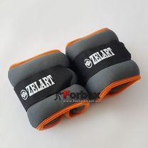 Утяжелитель манжеты для рук и ног Zelart 2*1кг (FI-5733-2, оранжевый)
