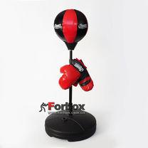 Боксерський набір дитячий (рукавички + груша на стійці) (BO-1524, червоний)