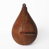 Груша каплевидная подвесная VINTAGE из натуральной кожи (F-0260, коричневый)