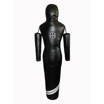 Манекен для борьбы Силуэт Spurt с подвижными руками из ПВХ рост 180см, 40-45кг (MSP-008, черный)