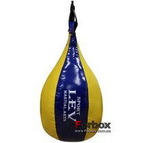 Груша боксерская Lev Sport 0.6м 8кг ПВХ (сине-желтая)
