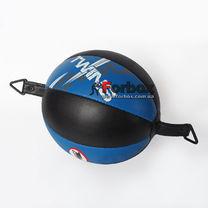 Груша пневматична Twins Double End Ball кругла на розтяжках (DPL020, синьо-чорний)