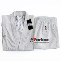 Кімоно для карате Kumite Fighter Adidas з акредитацією WKF (K220KF-SP) біле