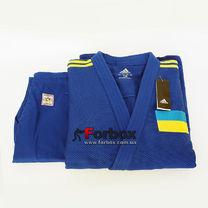Кімоно для дзюдо Adidas Champion 2 з акредитацією IJF національний прапор (J-IJF-SMU, синє)