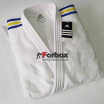 Кимоно для дзюдо Adidas Champion2 с аккредитацией IJF национальное (J750W-UA, белое)