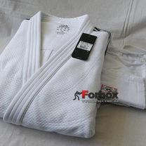 Кимоно для дзюдо Adidas Champion 2 с аккредитацией IJF приталенное SlimFit (ADIJFSF, белое)