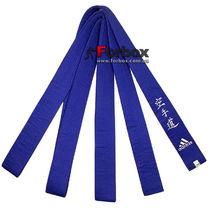 Пояс Adidas Elite с вышивкой каратэ (adiB242, синий)