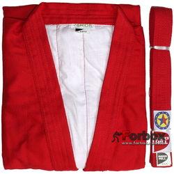 Куртка для самбо Green Hill Master 550 гм2 (SC-2001, красная)