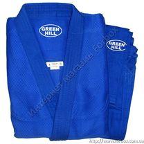 Кимоно для дзюдо Green Hill Master 800 гм2 (JSM-10224, синее)
