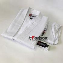 Кимоно для каратэ Smai Karate Student GI с аккредитацией WKF (AS-003WKF, белое)