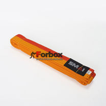 Пояс для кимоно Smai двухцветный (SMB001YL-OR, желто-оранжевый)