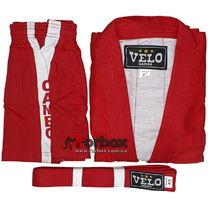 Куртка для самбо Velo 500 гм2 (VL-8126, красная)